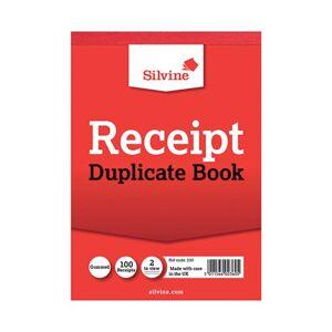 Silvine Duplicate Receipt Book 105x148mm Gummed (Pack of 12) 230