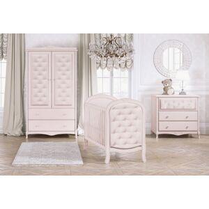 Bebecar Trama 3 Piece Luxury Nursery Furniture Set in Pink