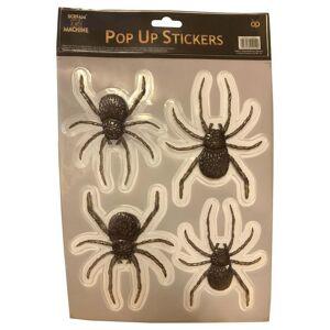 Scream Machine 3D Spider Pop Up Stickers 4 Pack Halloween Window Decoration
