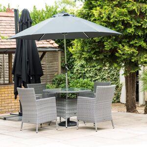 Only Oak Furniture Sandringham 4 Chair Square Dining Set