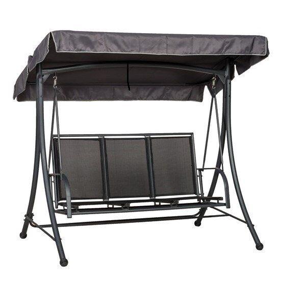 Only Oak Furniture SORRENTO Black 3 Seat Swing Hammock