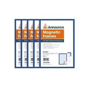 Announce Magnetic Frames A4 Blue (5 Pack) AA07540