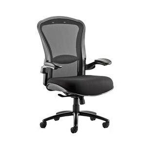 Houston Task Operator Chair Mesh Back Black Fabric Seat Wit