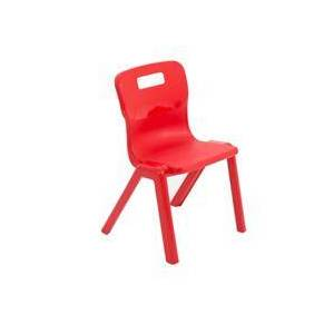 Titan One Piece Chair Size 2 - 310mm Seat Height - Red - T2-R