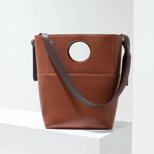 Pacha 'Jupiter' Leather Tote in Brown(Brown)
