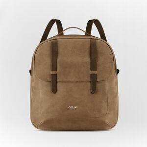 CREA UNI Lola Brown Leather Backpack(Brown)