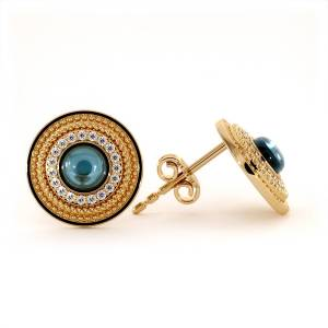 Dexter Augustus Ltd Nubia Earrings with Blue Topaz and Cubic Zirconia()