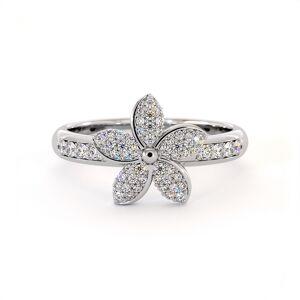 Dexter Augustus Ltd Cubic Zirconia Garland Ring - UK K - US 5.25 - EU 50(Silver)