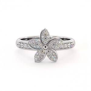 Dexter Augustus Ltd Cubic Zirconia Garland Ring - UK M - US 6.25 - EU 52.5(Silver)