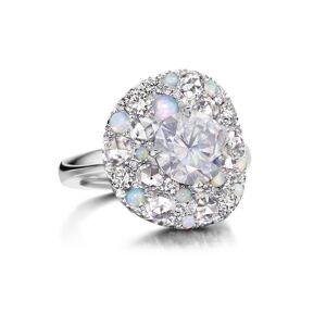 Joke Quick 18kt White Gold Superstars Ring With White Diamond Centerstone - UK L - US 5.75 - EU 51.2()
