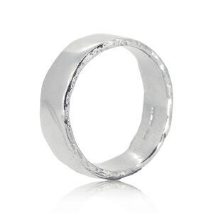 Molten Wedding Rings Dart Platinum Ring - UK M - US 6.25 - EU 52.5(Silver)