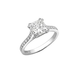 Robert Bicknell Fine Jewellery 18kt White Gold Princess Cut Diamond Ring - UK L - US 5.75 - EU 51.2()