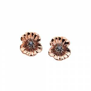 The Poppy Shop Rose Gold Poppy Petal Cufflinks