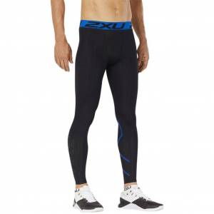 2XU Accelerate Compression Tight Black/Lapis Blue