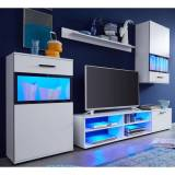 Furniture In Fashion Polar Living Room Furniture Set In White With LED Lighting