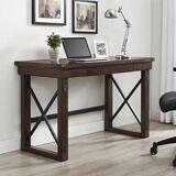 Furniture In Fashion Wildwood Wooden Veneer Laptop Desk In Espresso