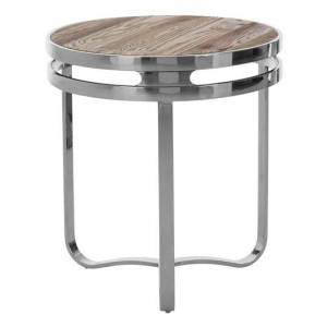 Furniture In Fashion Mintaka Pine Wood Round Side Table In Natural