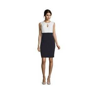 Vera Mont Two-Tone Jersey Dress Navy  - Navy - Size: 18