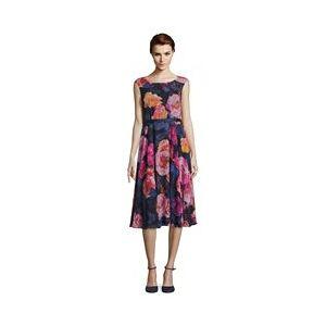 Vera Mont Floral Midi Dress Navy  - Navy - Size: 18
