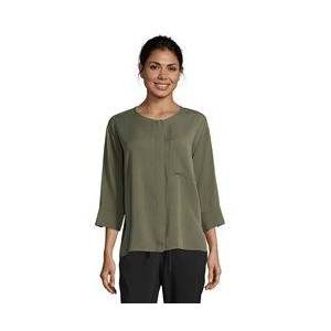 Betty & Co Button Front Blouse Green  - Green - Size: 18
