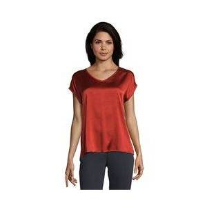 Betty Barclay Silk Front Top Red  - Red - Size: 18
