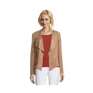 Betty Barclay Soft Touch Waterfall Jacket Camel  - Camel - Size: 18