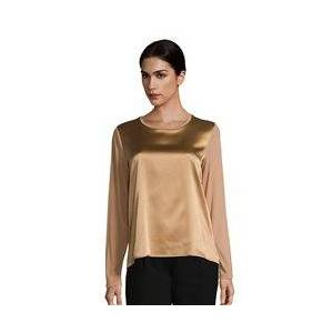 Betty Barclay Silk Front Panel Top Camel  - Camel - Size: 18