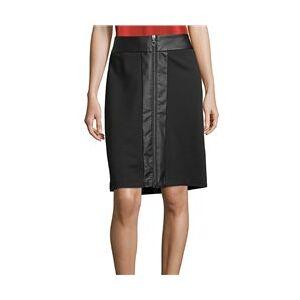 Betty Barclay Zip Front Skirt Black  - Black - Size: 18