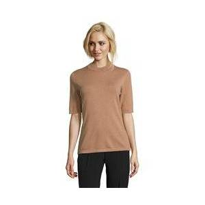 Betty Barclay High Neck 1/2 Sleeve Jumper Camel  - Camel - Size: 18