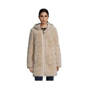 Betty Barclay Reversible Hooded Coat Beige  - Beige - Size: 18