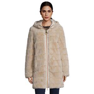 Betty Barclay Reversible Hooded Coat Beige  - Beige - Size: 18