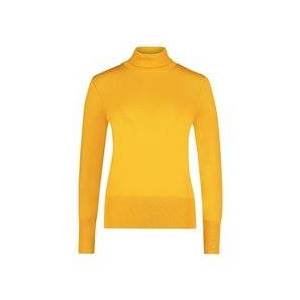 Betty Barclay Polo Neck Jumper Gold  - Gold - Size: 18