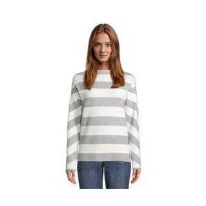 Betty & Co High Neck Striped Jumper Grey  - Grey - Size: 18