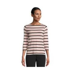Betty Barclay Stripe Top With Boat Neckline Pink  - Pink - Size: 10