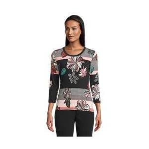 Betty Barclay Floral And Stripe Print Top Pink  - Pink - Size: 22