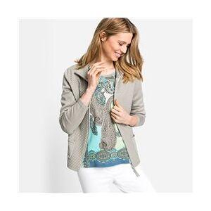 Olsen Waffle Knit Zip Cardigan Grey  - Grey - Size: 18