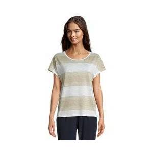 Betty & Co Striped Top Beige  - Beige - Size: S