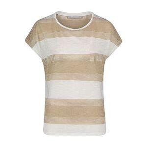 Betty & Co Striped Top Beige  - Beige - Size: XL