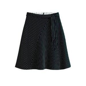 Sandwich Clothing Asymmetrical Stripe Skirt Black  - Black - Size: L