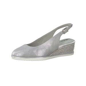 Tamaris Primula Wedge Sandal Silver  - Silver - Size: 3