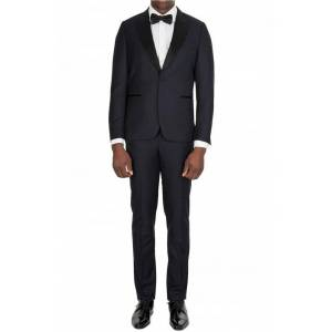 Paul Smith Tailored Fit Jacquard-Wool Evening Suit Navy