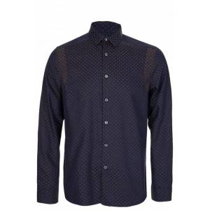 PAUL SMITH Polka Dot Tailored Fit Shirt Navy
