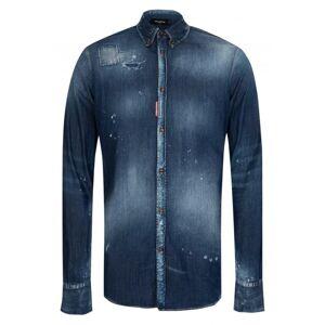DSQUARED2 Dsquared Western Medium Wash Denim Shirt