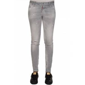 DSQUARED2 Womens Mid Rise Jeans Grey