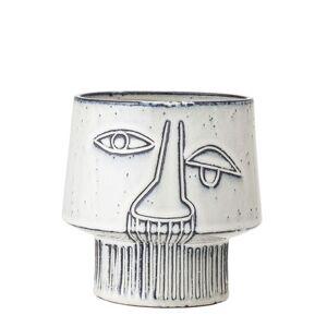 Bloomingville Flowerpot - / Ceramic - Ø 15 x H 14 cm by Bloomingville Grey