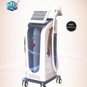 Russian Stock ICE 808 755 1064 nm Hair Removal Machine For Unwanted And Different Color Hair Faster