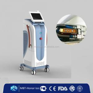 Doctor use 810nm Alex laser hair removal equipment / hair depilation ani skin colors (I-VI)