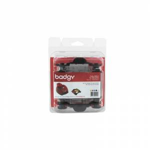 Evolis Ribbon & Cleaning Kit badgy 100p printer ribbon 100 pages...