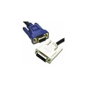 C2G 3m DVI-A M / HD15 M Cable VGA (D-Sub) Black