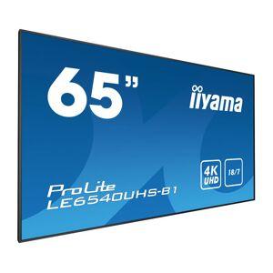 """iiyama LE6540UHS-B1 signage display 164.1 cm (64.6"""") LED 4K Ultra..."""